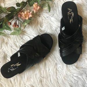 Aerosoles A2 Heelrest Black wedge sandal